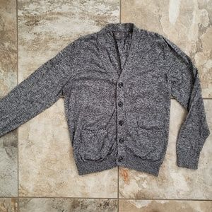 Men's gray vneck cardigan